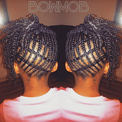 braided back to school hairstyle for black girls