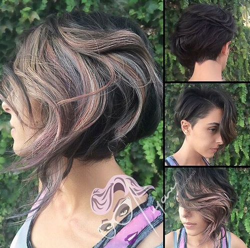 40 on trend balayage short hair looks balayage highlights for short asymmetrical haircut solutioingenieria Images