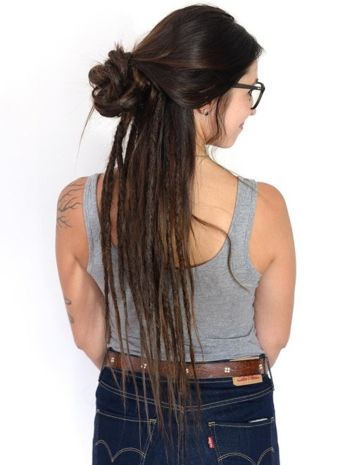 half updo with half dreads