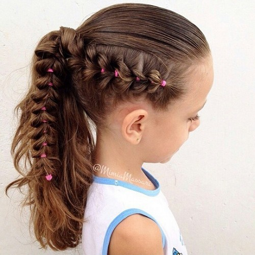 pony with a side braid