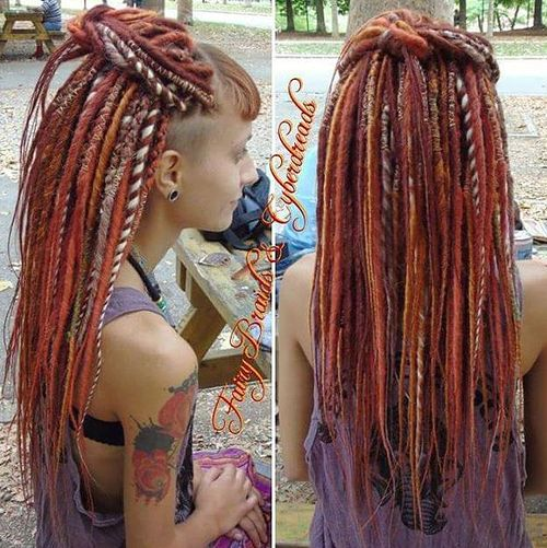 Cool 20 Daring And Creative Hairstyles With Dreadlocks For Women Hairstyles For Women Draintrainus