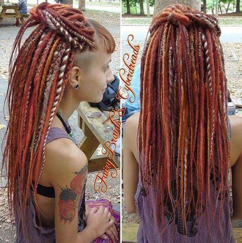 Peachy 20 Daring And Creative Hairstyles With Dreadlocks For Women Short Hairstyles Gunalazisus
