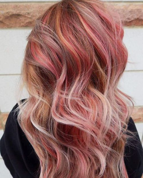 Pink And Blonde Highlights For Brown Hair