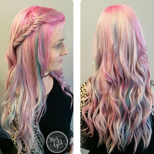 Incredible 40 Pink Hairstyles Pastel Colors Pink Highlights Blonde And Hairstyles For Women Draintrainus