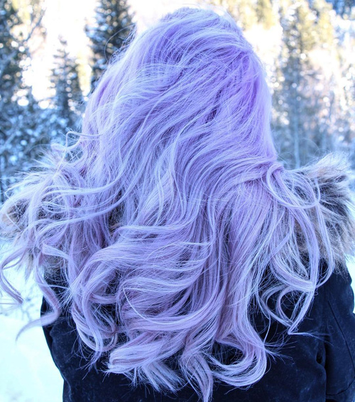 prettiest pastel purple hair