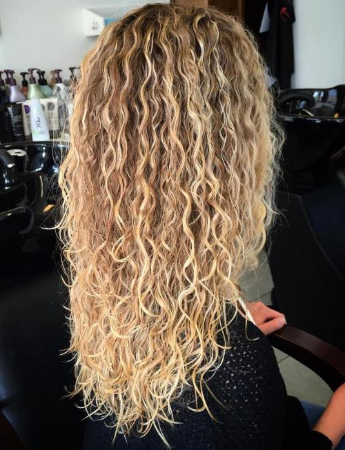 40 gorgeous perms looks say hello to your future curls long brown blonde perm hair urmus Images