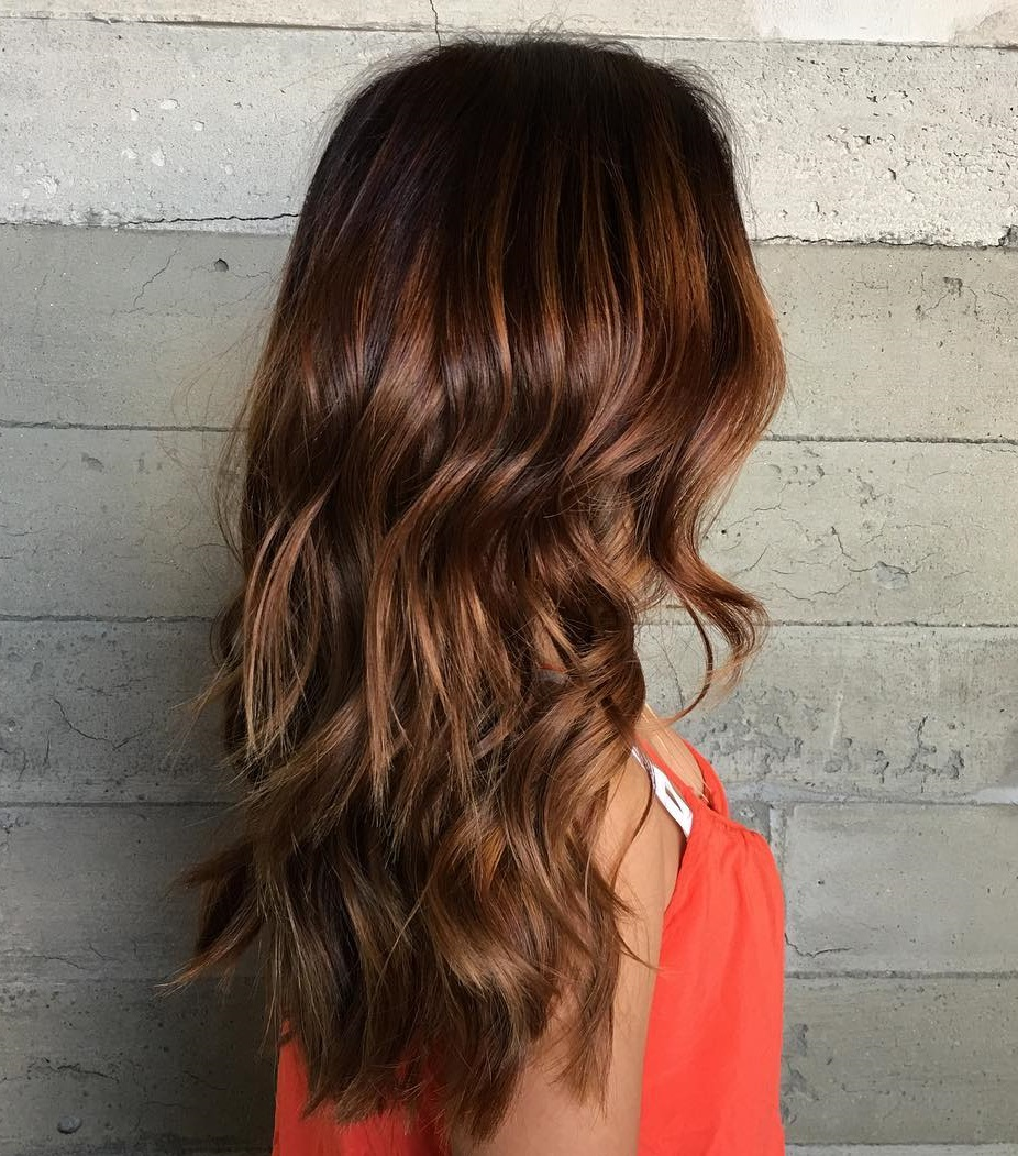 60 auburn hair colors to emphasize your individuality brown hair with subtle highlights pmusecretfo Image collections