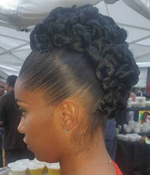 fauxhawk formal updo
