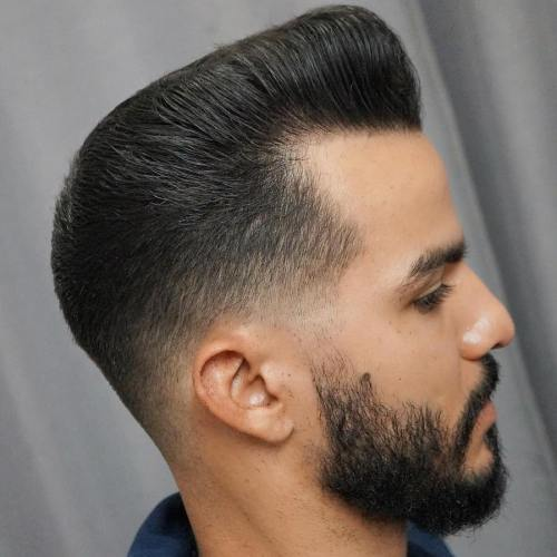 Pompadour With Taper Fade