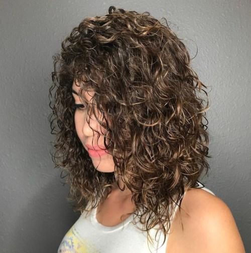 Mid-Length Permed Hair