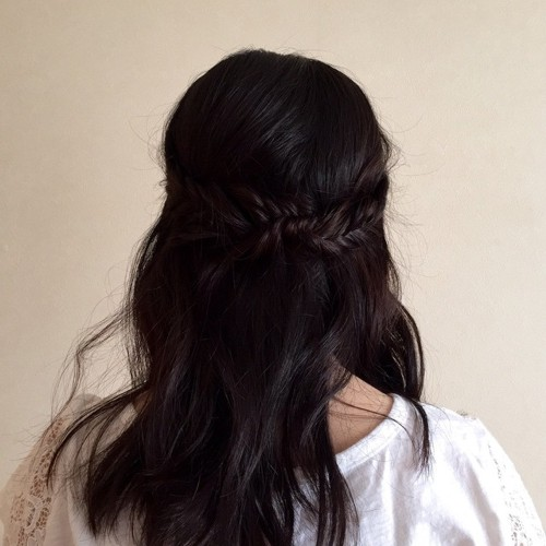 half up hairstyle with braids