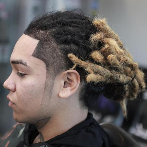 Men's Ombre Dreads With Line Up
