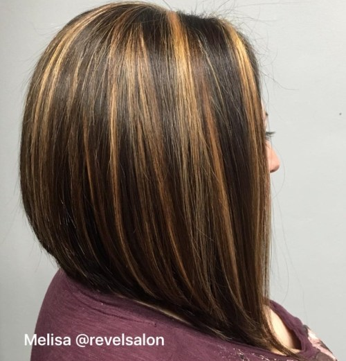Layered Bob with Chunky Highlights