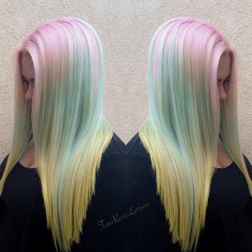 pastel ombre hair