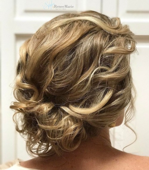 Loose Curly Updo