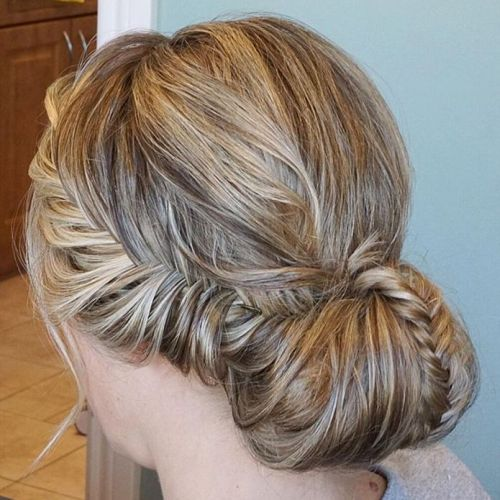 Messy Chignon With Braids
