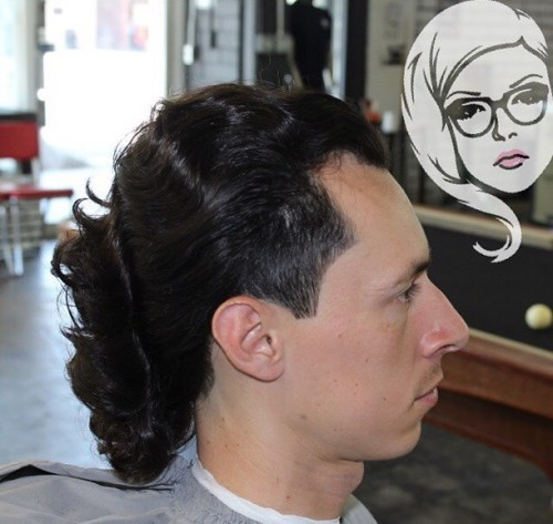 wavy mullet hairstyle