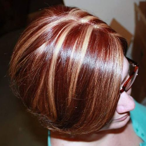20 best hair color ideas in the world of chunky highlights red hair with blonde highlights pmusecretfo Images