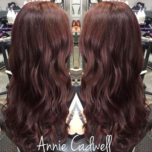 dark purple red hair