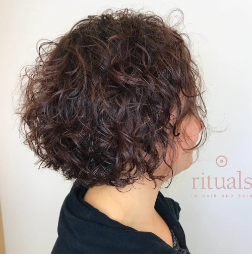 Curly Messy Perm Bob