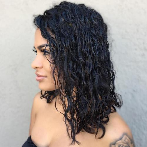 40 gorgeous perms looks say hello to your future curls black permed lob urmus