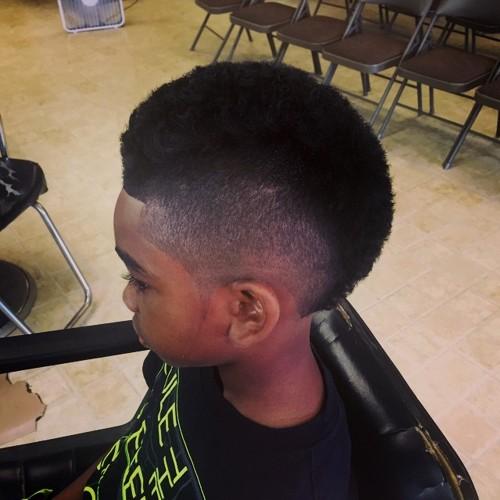 black boy's short mohawk