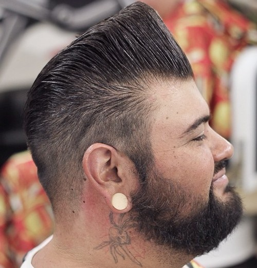 High Flat Top Pompadour