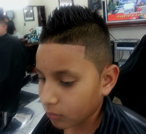 mohawk for boys with side undercut
