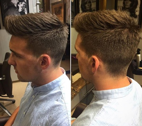 The 40 hottest faux hawk haircuts for men long top textured haircut for men urmus Gallery