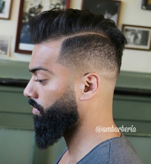 men's pompadour for natural hair