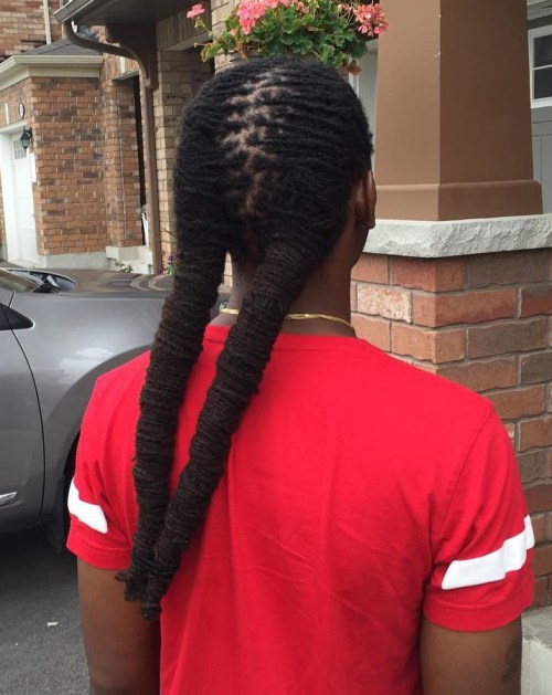 Plaited Men's Pigtails