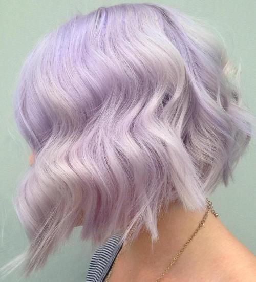 Choppy Pastel Purple Bob