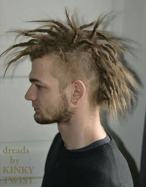 Mohawk With Long Blonde Dreadlocks