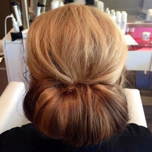 Chignon For Thick Hair