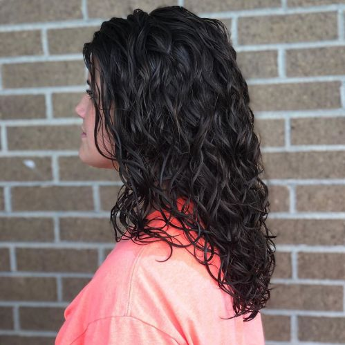 Longer Wavy Perm Hair