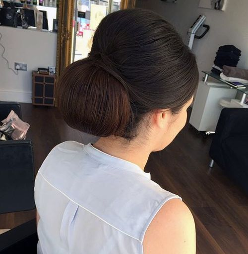 sleek formal bouffant chignon