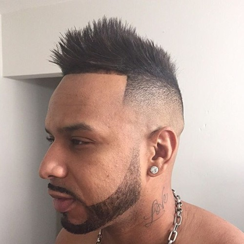 edgy spiky fauxhawk for men