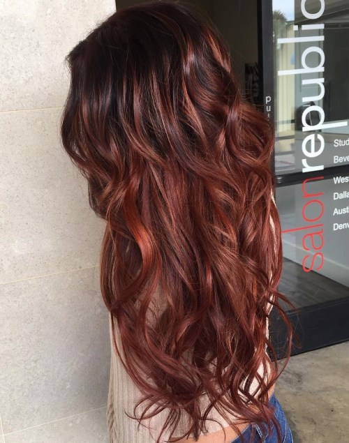60 auburn hair colors to emphasize your individuality dark brown hair with highlights pmusecretfo Image collections