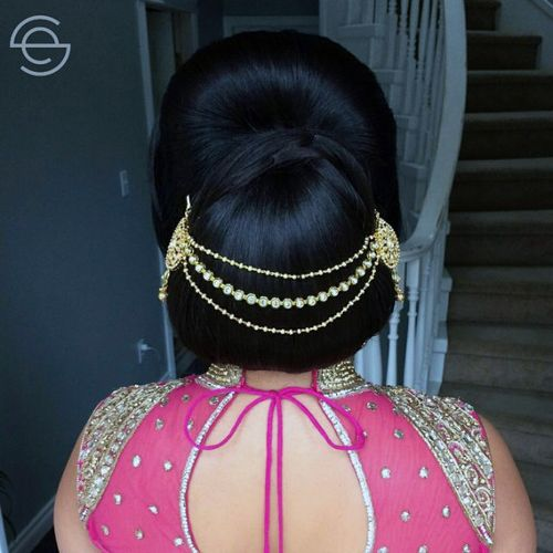 Indian style chignon