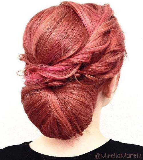 Chignon Updo With Messy Twists