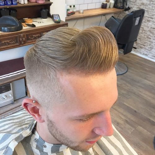 blonde pompadour hairstyle for men