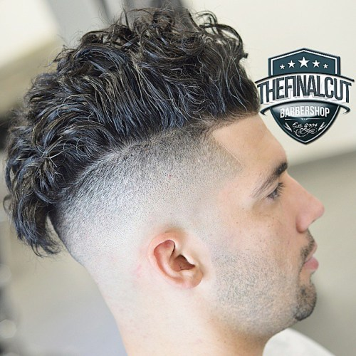 Curly Top Shaved Sides And Back Haircut