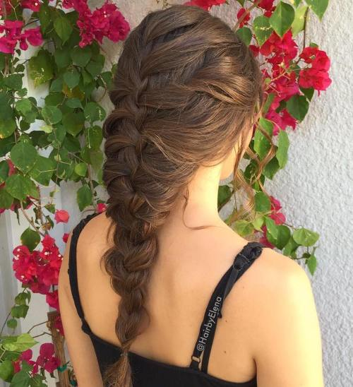 Simple Braided Hairstyle For Long Hair