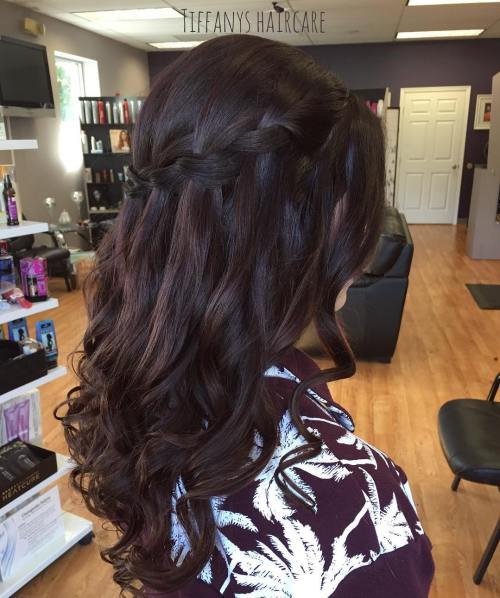 Brunette Braided Half Updo