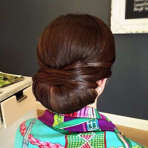 low roll chignon