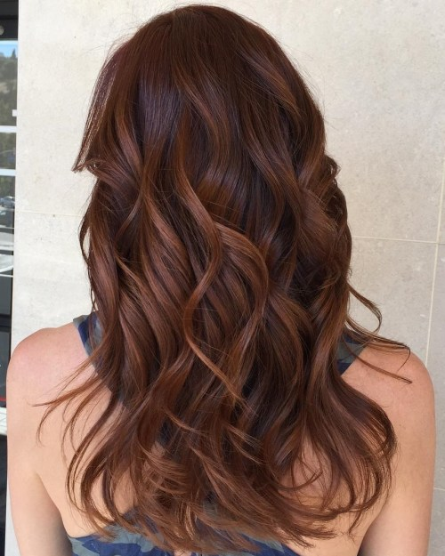 60 auburn hair colors to emphasize your individuality reddish brown hair with caramel highlights pmusecretfo Image collections