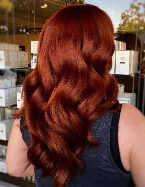 long auburn subtle ombre hair