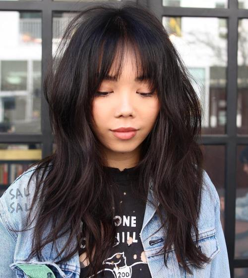 Asian Medium Layered Hairstyle