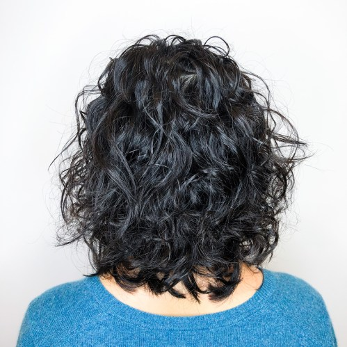 Medium Curly Perm Bob