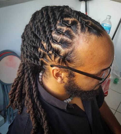 Men's African American Twisted Hairstyle